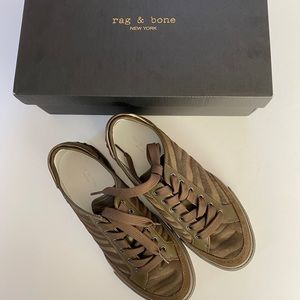 rag&bone army zebra-print calf hair sneakers Sz 39